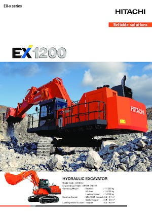Excavatrice sur chenilles  Hitachi EX1200-6