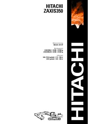 Pelle sur chenilles Hitachi ZX 350 LCN