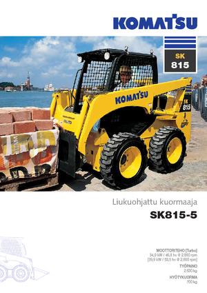 Chargeurs compacts Komatsu SK 815-5 Super Flow
