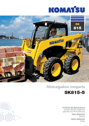 Chargeurs compacts Komatsu SK815-5 Super Flow