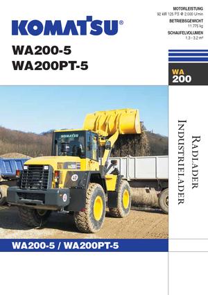 Chargeuses sur pneus Komatsu WA200-5