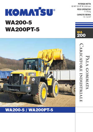 Chargeuses sur pneus Komatsu WA 200-5